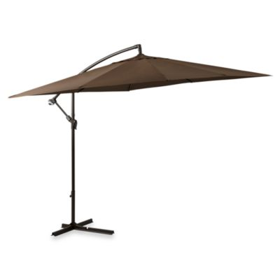 Superior 8 Foot Square Cantilever Umbrella In Chocolate