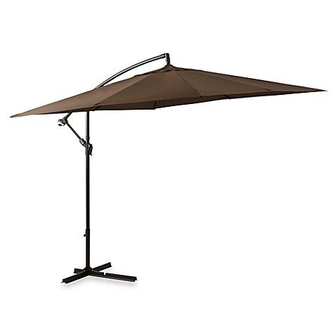 8 Foot Square Cantilever Umbrella In Chocolate Bed Bath