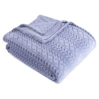 Berkshire Blanket® VelvetLoft® City Stripe Twin Throw Blanket in Celestial Blue