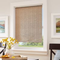 Origami Pleats Light Filtering 23-Inch Cordless Roller Shade in Linen
