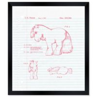 Oliver Gal™ Horse Love Blueprint 26-Inch x 32-Inch Framed Wall Art