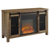 Forest Gate™ Englewood 48-Inch TV Console with Electric Fireplace in Rustic Oak