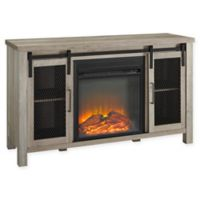 Forest Gate™ Englewood 48-Inch TV Console with Electric Fireplace in Grey Wash