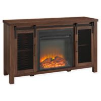 Forest Gate™ Englewood 48-Inch TV Console with Electric Fireplace in Dark Walnut