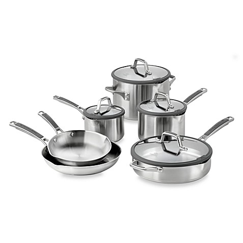 simply calphalon easy system stainless steel 10piece cookware set - Calphalon Cookware Set