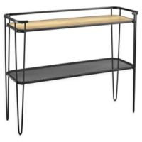 Forest Gate Hairpin Console Table in Rustic Oak