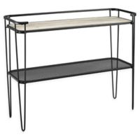 Forest Gate Urban Industrial Accent Entryway Table with Hairpin Legs in Grey Wash