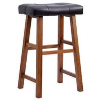 Saddle 29-Inch Bar Stool in Espresso/Medium Brown
