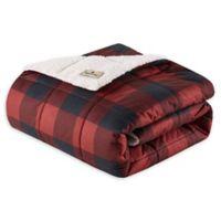 Woolrich Linden Throw Blanket in Red