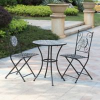 Winsome House® 3-Piece Mosaic Outdoor Bistro Set in Grey