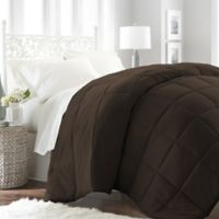Home Collection All Seasons Down Alternative Twin Comforter in Chocolate