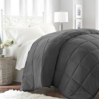 Home Collection All Seasons Down Alternative Twin Comforter in Grey
