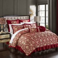 Chic Home Akim 9-Piece King Comforter Set in Red