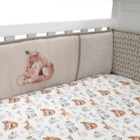 Lambs & Ivy® Painted Forest 4-Piece Crib Bumper Set in Beige/Grey