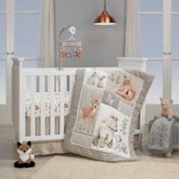 Lambs & Ivy® Painted Forest 4-Piece Crib Bedding Set in Beige/Grey