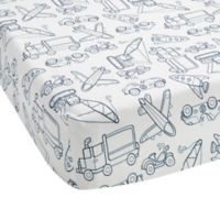Lambs & Ivy® Metropolis Fitted Crib Sheet in Blue/White