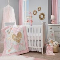 Lambs & Ivy® Layla 4-Piece Crib Bedding Set in Pink/Golden