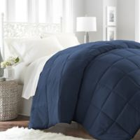 Home Collection All Seasons Down Alternative King Comforter in Navy
