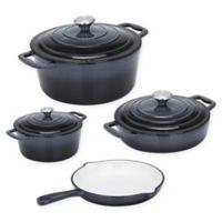 CS Kochsysteme™ XANTEN Enameled Cast Iron 7-Piece Cookware Set in Dark Grey