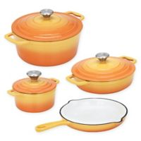 CS Kochsysteme™ XANTEN Enameled Cast Iron 7-Piece Cookware Set in Yellow