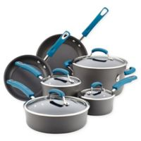 Rachael Ray® Hard Anodized Nonstick 10-Piece Cookware Set in Grey/Marine Blue