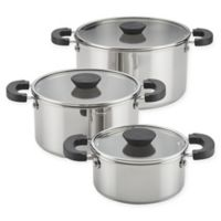 Farberware® Neat Nest™ Stainless Steel 6-Piece Covered Sauce Pot Set
