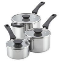 Farberware® Neat Nest™ Stainless Steel 6-Piece Covered Saucepan Set