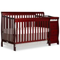 Dream On Me Brody 5-in-1 Convertible Crib & Changer in Cherry