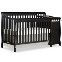 Dream On Me Brody 5-in-1 Convertible Crib & Changer in Black