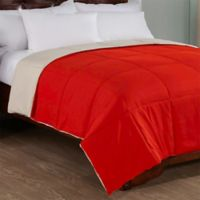 Peace Nest Reversible Down Alternative Full/Queen Comforter in Red