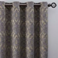 Gate Jacquard 84-Inch Grommet Top Window Curtain Panel in Antique
