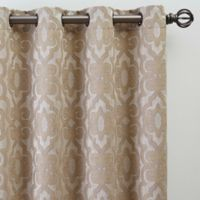 Gate Jacquard 63-Inch Grommet Top Window Curtain Panel in Bisque
