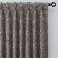 Gate Jacquard 108-Inch Pinch Pleat Window Curtain Panel in Antique