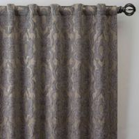 Gate Jacquard 63-Inch Rod Pocket/Back Tab Window Curtain Panel in Antique