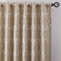 Gate Jacquard 63-Inch Rod Pocket/Back Tab Window Curtain Panel in Bisque