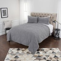 Rizzy Home Simpson Queen Quilt Set in Grey