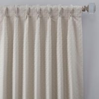 Glam 63-Inch Pinch Pleat Window Curtain Panel in Platinum
