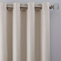Glam 108-Inch Grommet Window Curtain Panel in Platinum