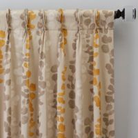 Honesty 108-Inch Pinch Pleat Window Curtain Panel in Straw