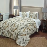 Rizzy Home Feathered Nest Queen Quilt in Beige