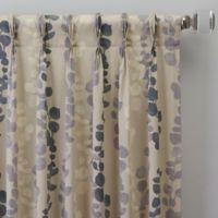 Honesty 108-Inch Pinch Pleat Window Curtain Panel in Slate