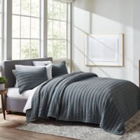 ED Ellen DeGeneres Marmont Full/Queen Quilt in Dark Blue