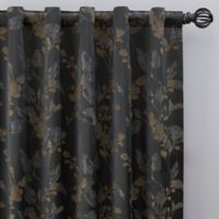 Jenna 84-Inch Rod Pocket/Back Tab Window Curtain Panel in Charcoal