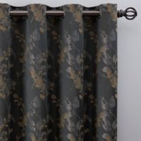 Jenna 108-Inch Grommet Window Curtain Panel in Charcoal