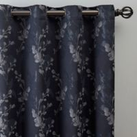Jenna 63-Inch Grommet Window Curtain Panel in Navy