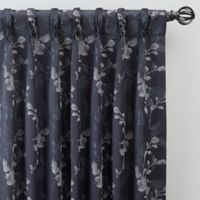 Jenna 84-Inch Pinch Pleat Window Curtain Panel in Navy