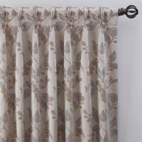 Jenna 63-Inch Pinch Pleat Window Curtain Panel in Pearl