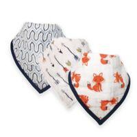 Hudson Baby® 12-Pack Foxes Muslin Bandana Bibs in Orange
