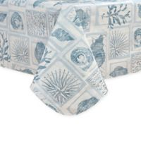 Coral Core 52-Inch x 70-Inch Oblong Vinyl Tablecloth in Blue