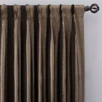Luxe Wide Stripe 108-Inch Pinch Pleat Window Curtain Panel in Onyx